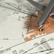 Stock Photo: Aeronautical instrumental procedure chart