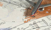 Aeronautical instrumental procedure chart — Stock Photo