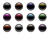Web buttons with social media logo — Stock Vector