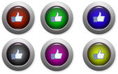 Web buttons with facebook logo — Stock Vector
