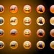 Halloween Web buttons - Stock Vector