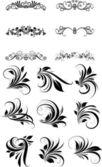 Elementos de ornamentos vintage — Vetorial Stock