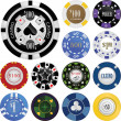 Stock Vector: Casino chips