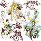 Floral ornaments — Stock Vector