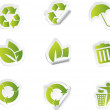 Ecology icons — Stockvektor