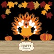 Turkey with pumpkin — Imagen vectorial