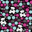 Teddy bears, elements for scrapbook, greeting cards, Valentine — Imagen vectorial