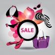 Vector illustration of big sale poster with different element — Stock Vector
