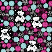 Teddy bears, elementen voor plakboek, wenskaarten, valentine — Stockvector