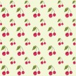 Seamless cherry pattern — Stock Vector