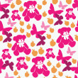Seamless pattern teddy bear — Vettoriali Stock