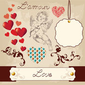 Valentine's Day Love Set — Stockvector