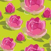 Patrones sin fisuras con lotos, mano-dibujo. ilustración vectorial. — Vector de stock