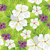 Floral seamless pattern with white flowers, hand-drawing. Vector — Stock Vector