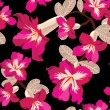 Beautiful seamless floral pattern - ベクター素材ストック