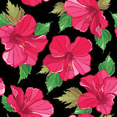 Seamless floral pattern , hand-drawing. — Vettoriale Stock
