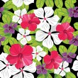 Floral seamless pattern with hibiscus - ベクター素材ストック