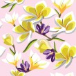 Floral seamless pattern with frangipani - ベクター素材ストック