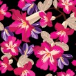 Floral seamless pattern with beautiful flowers - ベクター素材ストック