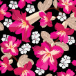 Floral seamless pattern  hand-drawing. Vector illustration. - ベクター素材ストック