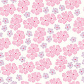 Modèle sans soudure pour le design avec des fleurs de printemps — Vecteur