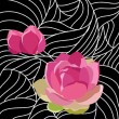 Royalty-Free Stock Imagen vectorial: Wallpaper with elegance flowers,vector illustration