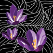 Wallpaper with elegance flowers,vector illustration — Stock Vector