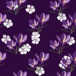 Seamless pattern for design with spring flowers — Stock Vector