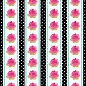 Patrón de papel tapiz transparente con flores. — Vector de stock