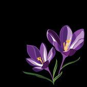 φόντο για σχεδιασμό με ανοιξιάτικα λουλούδια — Διανυσματικό Αρχείο