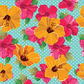 Floral seamless pattern with beautiful flowers, hand-drawing. — Stock Vector
