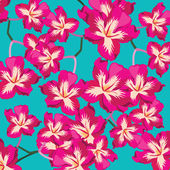Floral pattern with beautiful flowers, hand-drawing. — Stock vektor