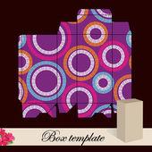 Gift box template. — Stock Vector