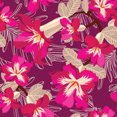 Seamless pattern floreale, disegno a mano. illustrazione vettoriale. — Vettoriale Stock