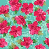 シームレスな花柄、手描き。ベクトル イラスト. — ストックベクタ