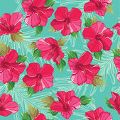 Seamless floral pattern, hand-drawing. Vector illustration. — Stok Vektör