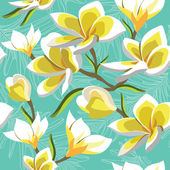 Seamless floral pattern, hand-drawing. Vector illustration. — Stock Vector