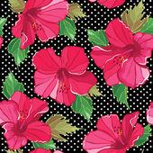 Motif floral sans soudure, dessin à main. illustration vectorielle. — Vecteur