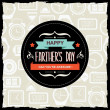 Poster Happy farther's day.Typography.Vector illustration. — Stock Photo