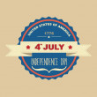 Poster 4 July Independence Day.Typography. — Stock Photo