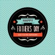 Poster Happy father's day.Typography.Vect or illustration. — Stock Photo