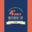 Poster 4 July Independence Day.Typography. — Stock Photo #28997053