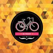Zomer poster met fiets. — Stockfoto