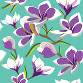 Floral seamless pattern with beautiful flowers, hand-drawing. — Stock Photo