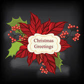 Poster Merry Christmas.Typograph y.Vector illustration. — Stock Photo