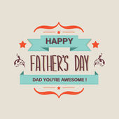 Poster Happy father's day.Typography.Vector illustration. — Stock Photo