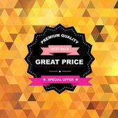 Label Best sale.Vector illustration. — Stock Photo