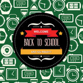 Poster Back to school.Typography.Vector illustration. — Stock Photo