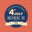 Poster 4 July Independence Day.Typography. — Stock Photo #29000447
