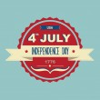 Poster 4 July Independence Day.Typography. — Stock Photo #29007825